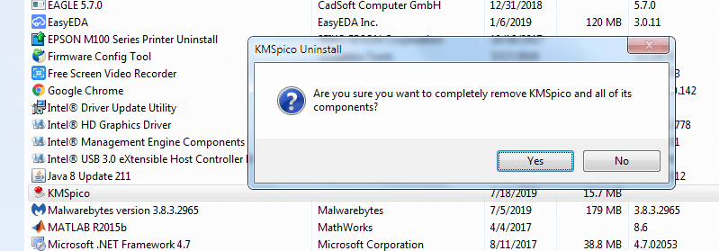Press-yes-to-uninstall-control-panel